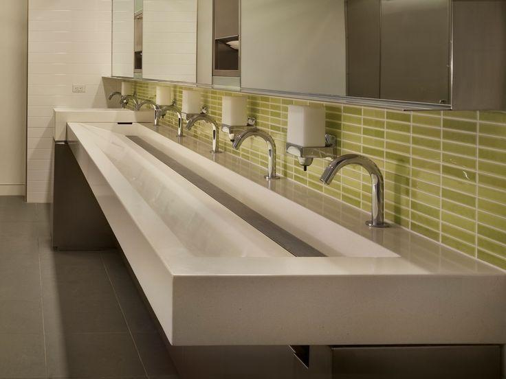 Public Bathroom Sink : 200 Fifth Ave Trough Sink HOME - Bathrooms Pinterest