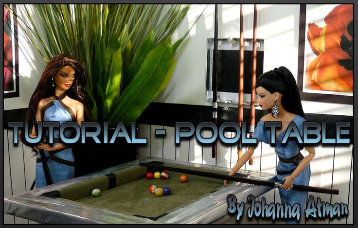 1:6 Scale Pool Table Tutorial: Barbie Diy, Barbie Tutorials, Barbie Girls, Barbie House, Barbie Families, Barbie Dreams, 1 6 Barbie, Barbie Dr. Am, Barbie Dollshous