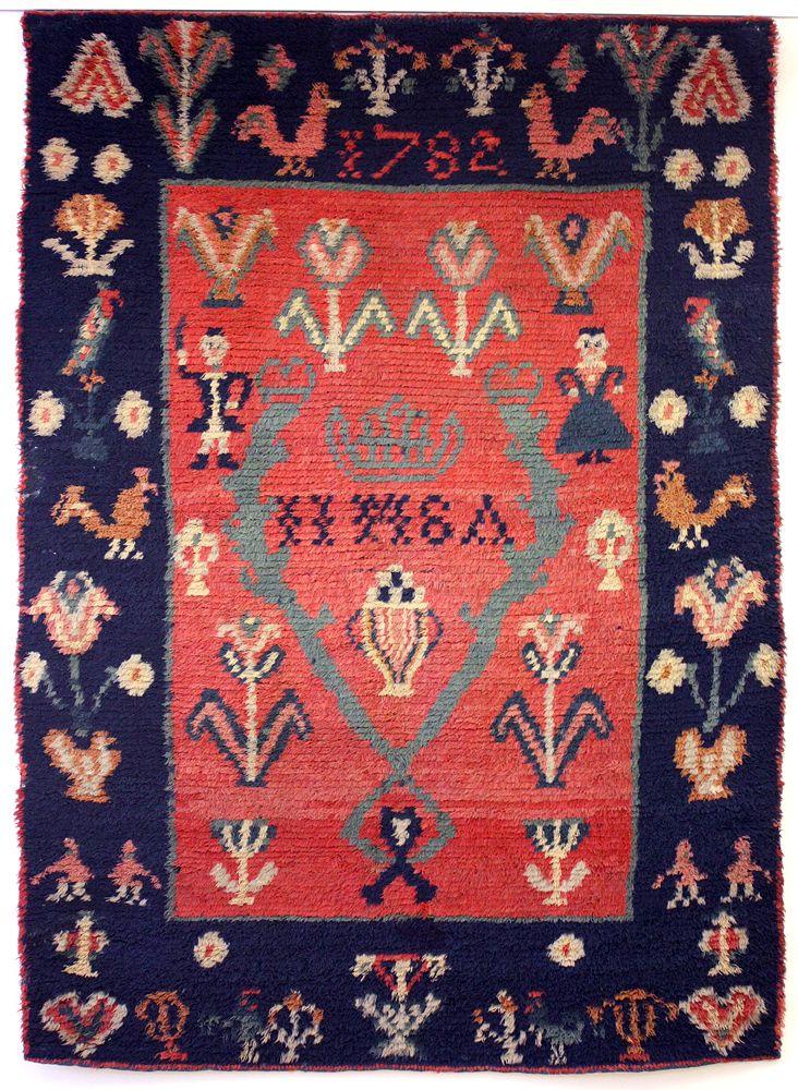 Keuruun ryijy - Finnish rya rug, 1782.