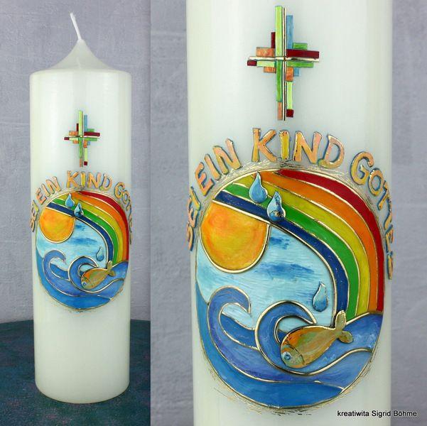 Taufkerze SEI EIN KIND GOTTES DW 401 von  Kerzenkunst -  Kreatiwita auf DaWanda.com