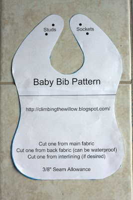 Climbing the Willow: baby bib tutorial