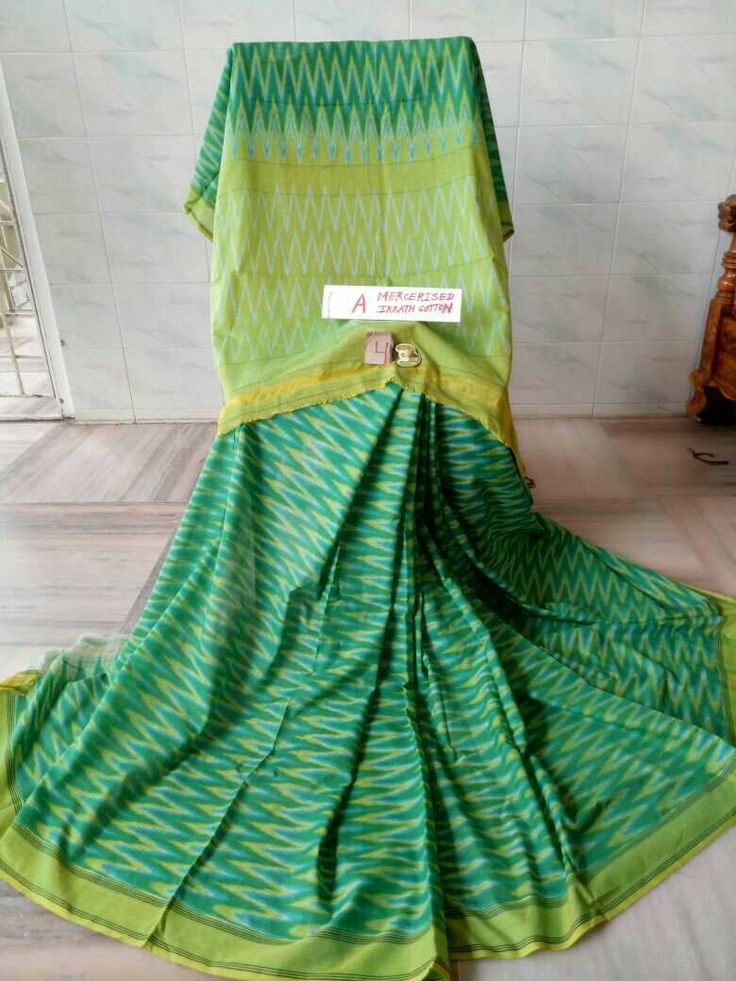 Mercerised ikkath cotton saree's 10