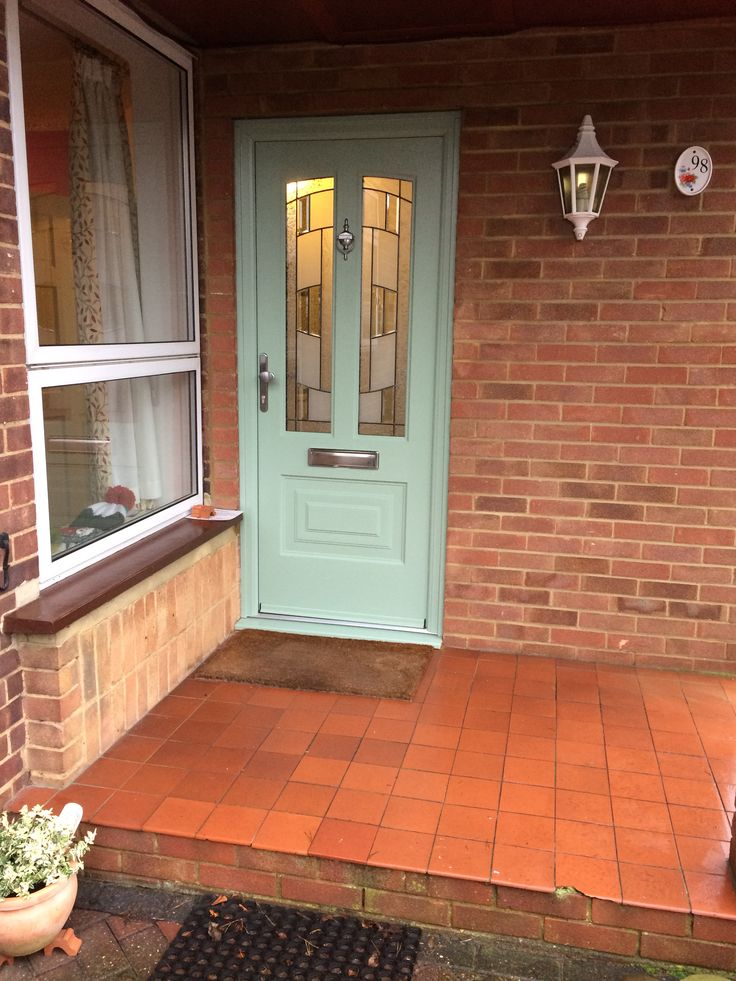 Another Illinois, this time in Chartwell Green and fitted with Inspire glass.  #Rockdoor #Illinois #Inspire #Frontdoor