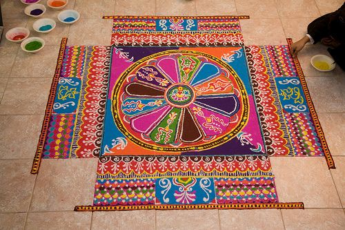 beautiful intricate Rangoli