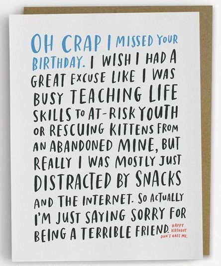 Excuses Belated Birthday Wishes