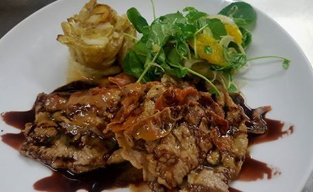 Veal Saltimbocca - veal wrapped in proscuitto & sage with a lemon white wine sauce. Weekend dinner sorted! Fratelli restaurant, wellington. http://www.fratelli.net.nz/menu/