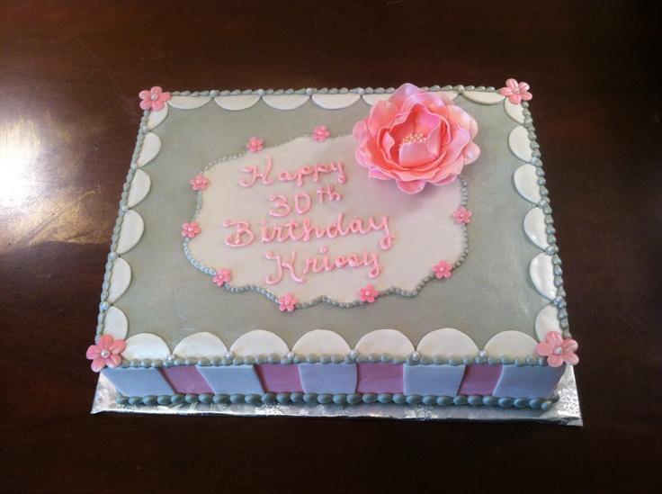 Pink & grey birthday cake