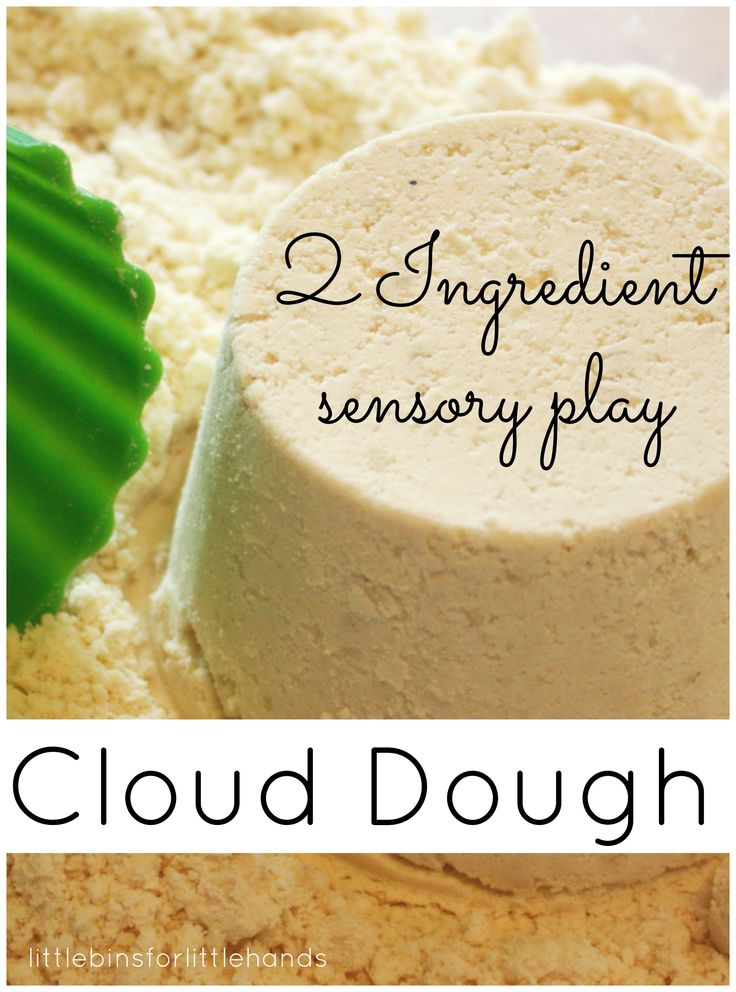 Homemade Cloud Dough Taste Safe Sensory Play Recipe