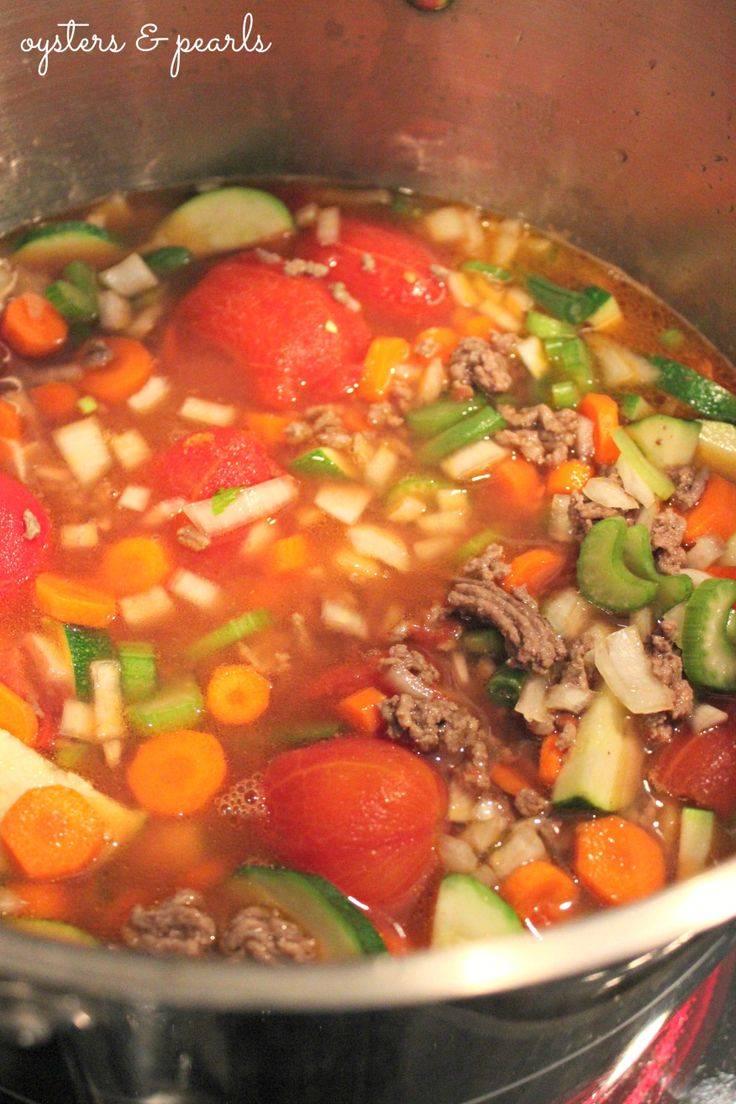 Vegetable Beef Soup - make with leftover roast instead of ground beef