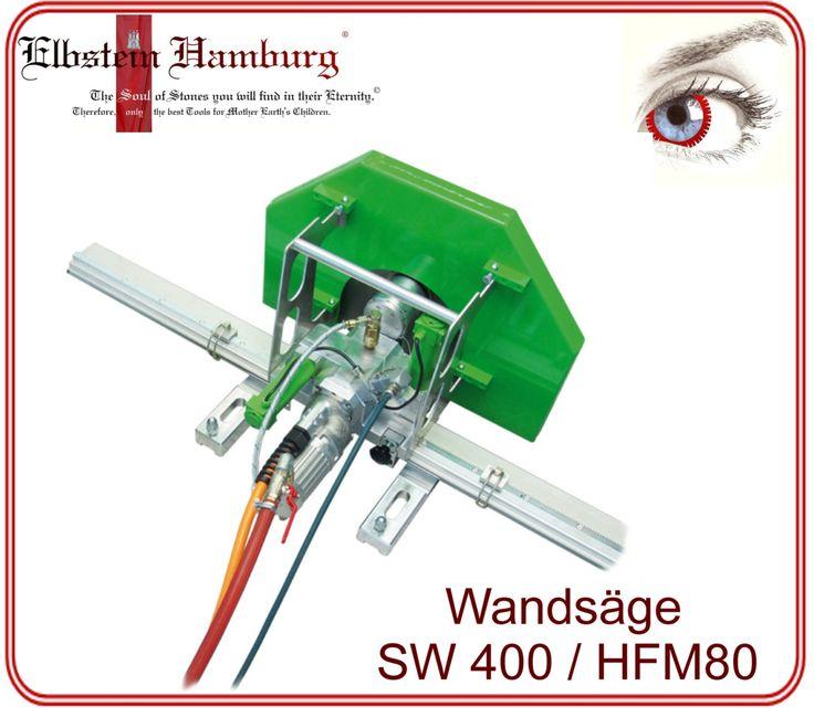 Kompaktes und ultraleichtes Schwenkarm-Wandsägesystem mit HF-Elektromotor, Funkfernsteuerung und elektrischen Vorschub- und Absenkmotoren für Trennscheiben bis Ø750 mm und Schnitttiefen bis 325 mm.
