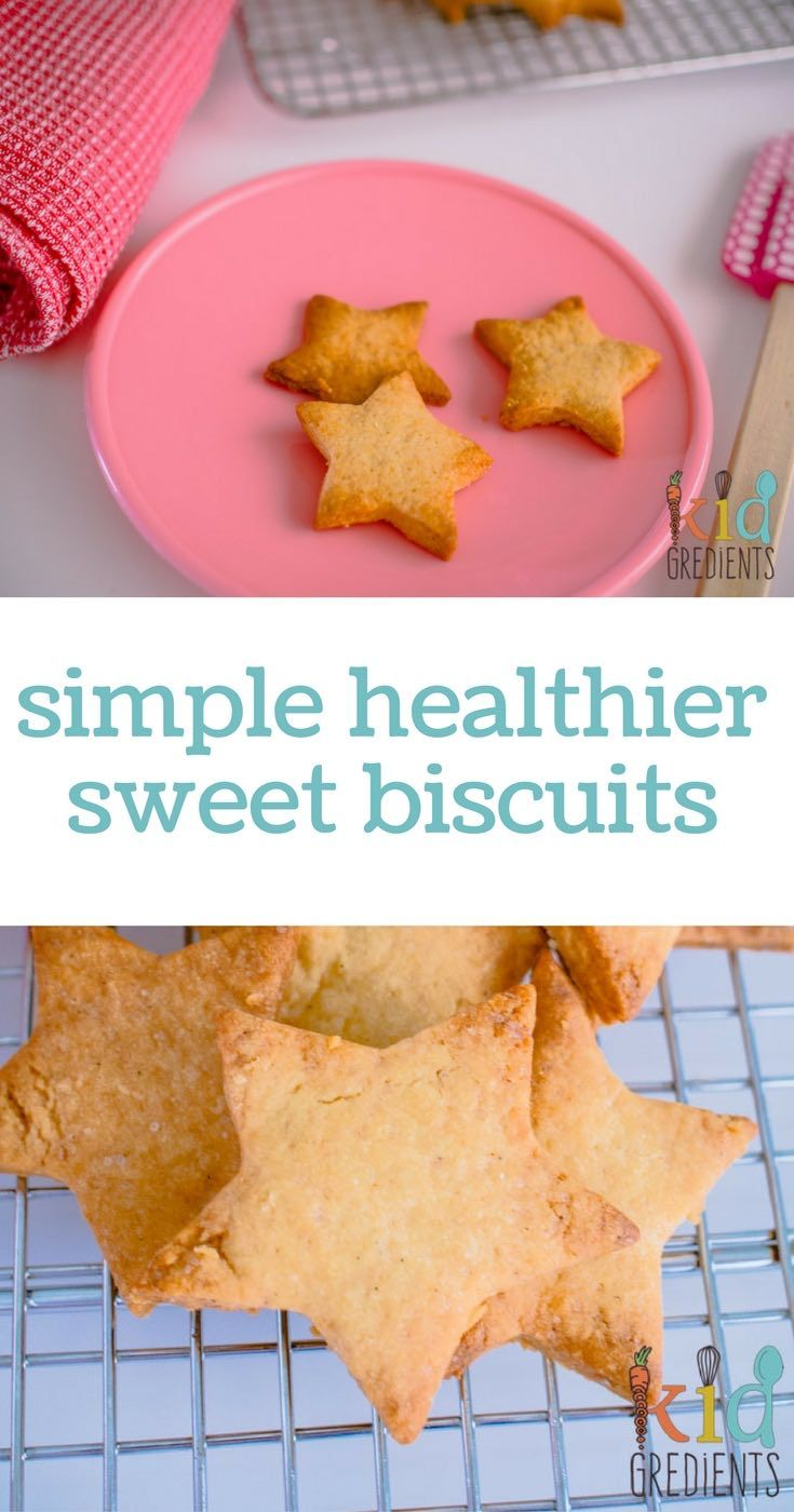 Simple healthier sweet biscuits, perfect for the lunchbox, crunchy, yummy and vanilla flavoured.