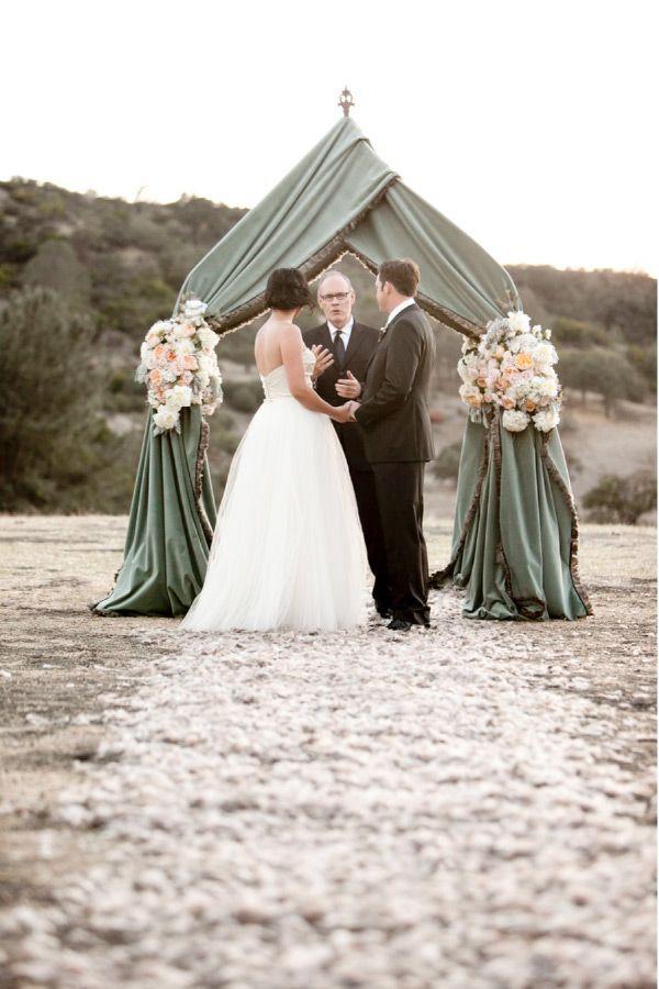 green beach wedding arch ideas