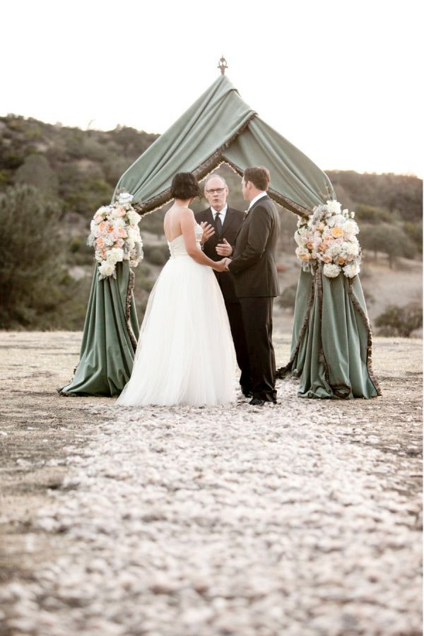 green beach wedding arch ideas