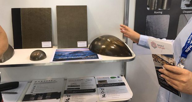 Machinery and components of basalt composites, basalt fiber, finished products and solutions for automation of basalt composites engineering and production were showcased at the International Exhibition in Stuttgart.