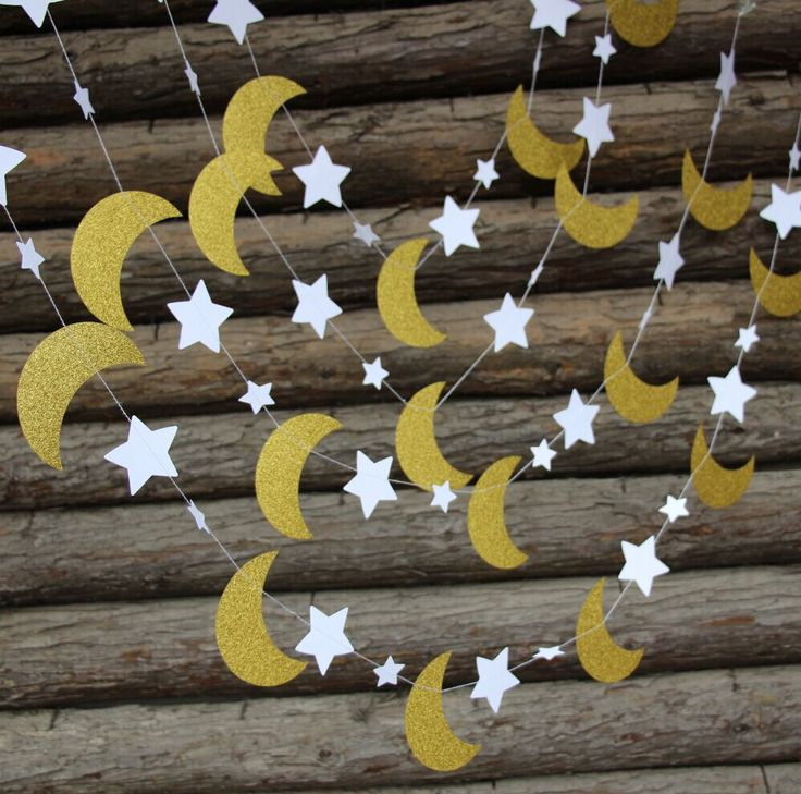 Gold Glitter Moon & Star Garland Twinkle Twinkle Little Star   Nursery Decor  Gender Neutral Star Bunting-in Event & Party Supplies from Home & Garden on Aliexpress.com | Alibaba Group