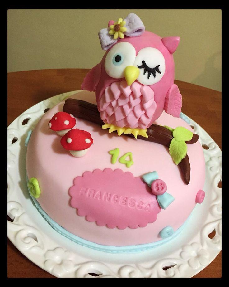 Torta gufetto  owl cake