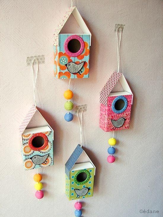 Casitas hechas con cajas de cerillas | Kireei - Cosas bellas | Bloglovin'