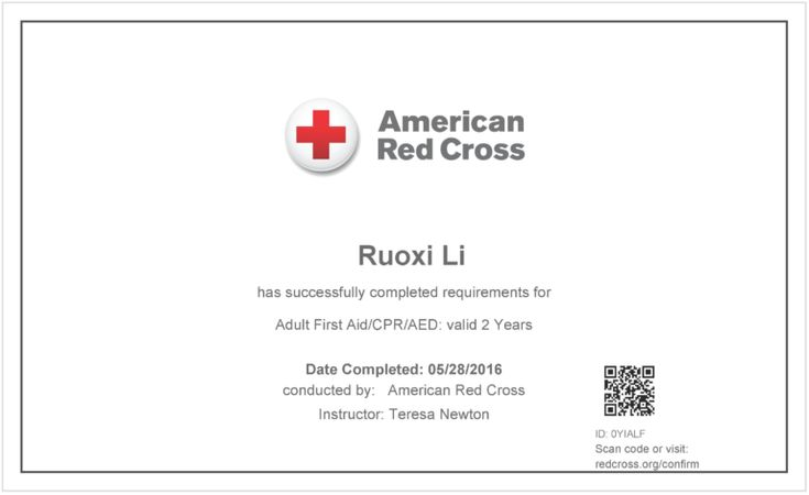 Free Cpr Certification Card First Aid Course Certificate