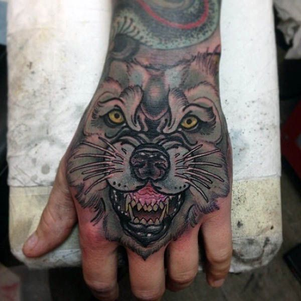 104 best images about hand tattoos on pinterest hand for Animal hand tattoos