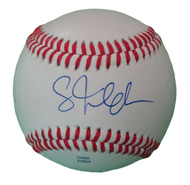 Scott Feldman Autographed Rawlings ROLB1 Leather Baseball, Proof Photo