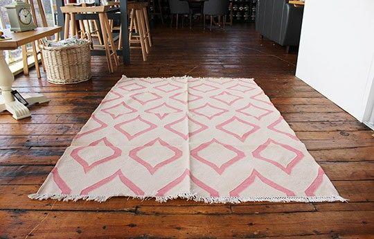 Lantern Rug in Cream/Pink - WARINGS Store  Available on http://www.waringsathome.co.uk/for-the-home/rugs.html?limit=all