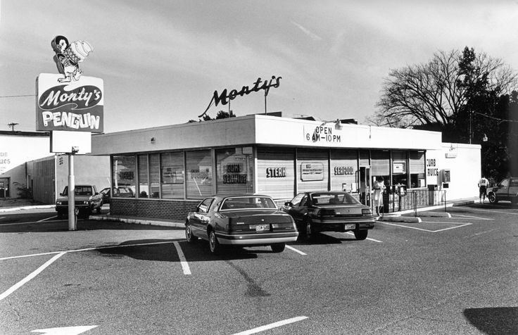 Look Back Local Restaurants  Monty's Penguin opened in the 1940's but has been operating at its current location since 1974. Here it is in 1991.  http://www.dailypress.com/news/photos/dp-pictures-look-back-local-restaurants-201407-015-photo.html