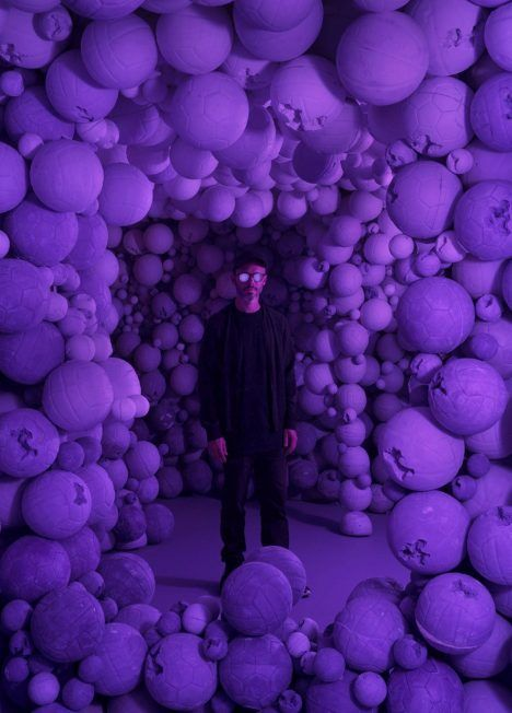 Known for his use of white in artwork and installations, Daniel Arsham has introduced colour into his work for the first time at the Circa 2345 exhibition