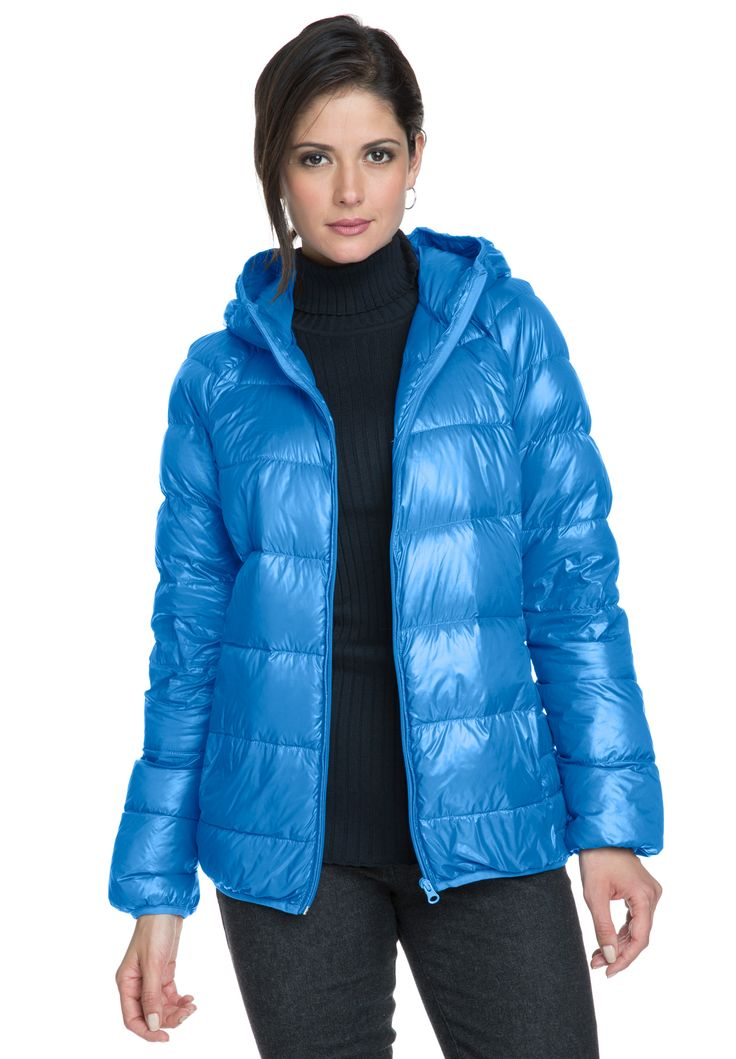 "Short hooded puffer coat, that gives you a polished top coat for the new season.  in a straight fit for easy layering 26"" length ends at the waist zip front with invisible zippers on the sides short hooded puffer coat inside side pockets, it comes with its own travel bag nylon hand wash;imported  Plus size puffer coats in sizes 12, 14, 16, 18, 20, 22, 24, 26, 28   Fit and Fashion Notes:This puffer coat is perfect for windy days of fall/winter. Pair it over any of wardrobe ..."