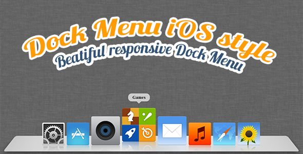 Dock Menu HTML5/CSS3 . Dock Menu like Mac OS X Dock menu. Animated flexible, responsive menu with button properties. Position menu where you want on the