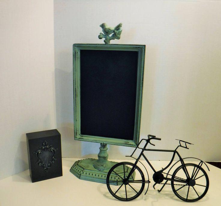 Chalkboard Menu Board, Metal Menu Board Chalk Board, Standing Kitchen or Restaurant Chalk Board, Magnetic Bulletin Board, Message Board by BeautyMeetsTheEye on Etsy