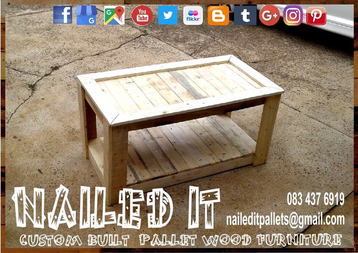 Pallet wood coffee table. Raw wood finish. #palletfurniture #palletcoffeetable #pallettable #palletwoodcoffeetable #palletfurnituredurban #custompalletfurnituredurban #custompalletfurniture