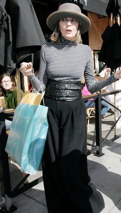 Diane Keaton leaving Taschen book store in Beverly Hills California