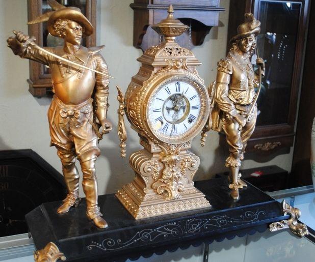 """Antique Ansonia Clock, """"Don Caesar & Don Juan"""", ca 1800's"""