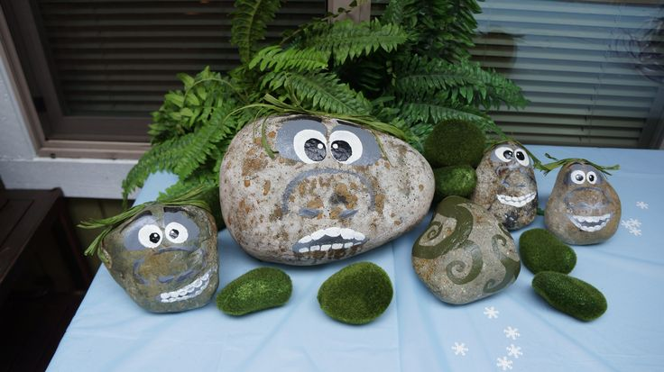 Frozen Trolls hand painted river rocks