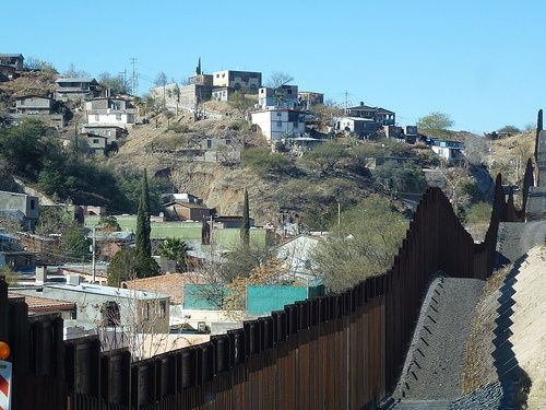 Nogales Mexico - was a day trip.  They had awesome pottery! The fence separates Nogales Mexico from Nogales Arizona.