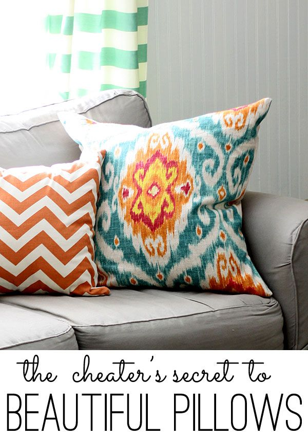 The cheater's secret for how to make pillows