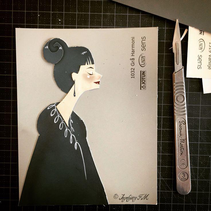 Kirugami. Papercutting by Ingebjorg F M