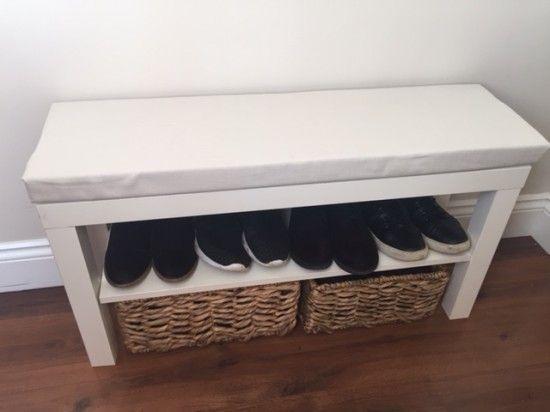 17 best ideas about ikea hack bench on pinterest bedroom for Ikea shelf bench hack