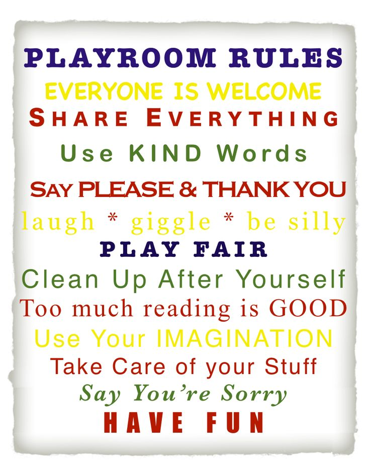 Cheaper and Better: Free Printable Playroom Rules Sign