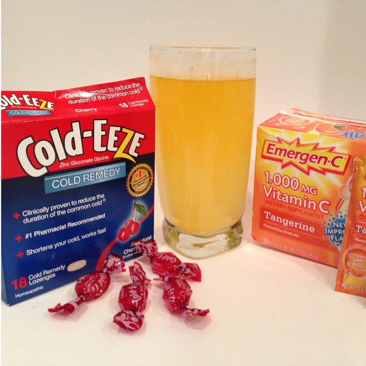 How To Fight Off A Cold - Cold Eeze and Emergen-C.  Cheap way to reduce cold symptoms and keep from getting sick!