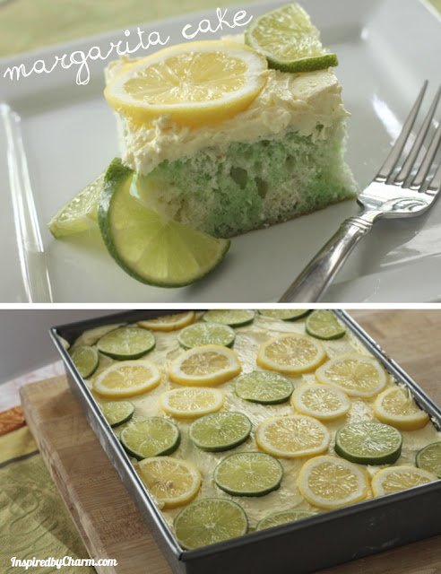 "Margarita Cake. OMG! I was just telling one of my girlfriends that I want to make a margarita flavored ""skinny girl"" cake! Sooo, I will scratch some of the ingredients and swap for slightly healthier/low cal options but none the less-SUPER EXCITED!"