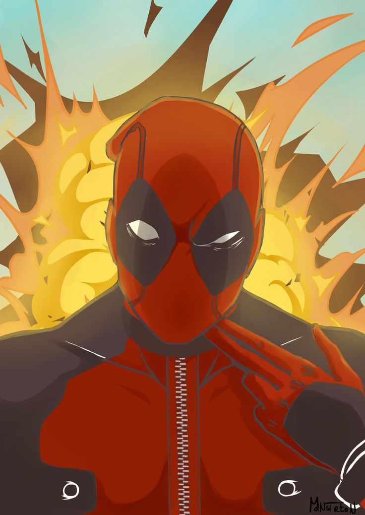 #Deadpool #Fan #Art. (Deadpool,pull the trigger) By: Monstreon. ÅWESOMENESS!!!™ ÅÅÅ+