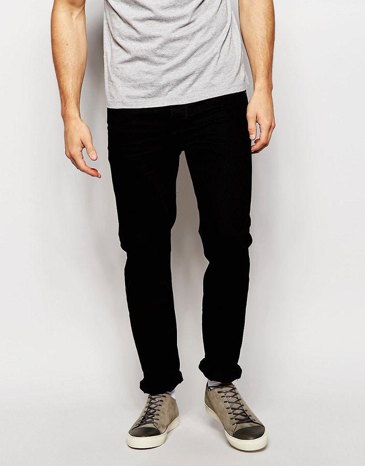 Image 1 ofASOS Slim Jeans in Black