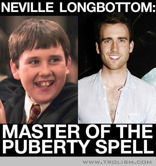 Neville Longbottom: Master Of The Puberty Spell