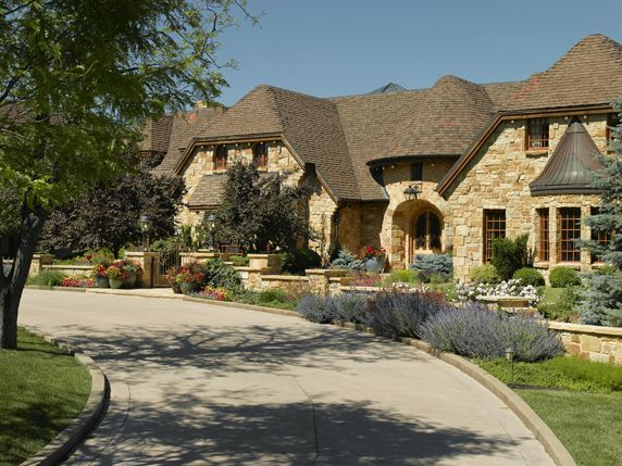 Shaped Driveway Landscaping : Pin by lifescape colorado on hardscapes driveways