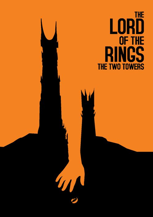 awesome alternative poster for The Two Towers.