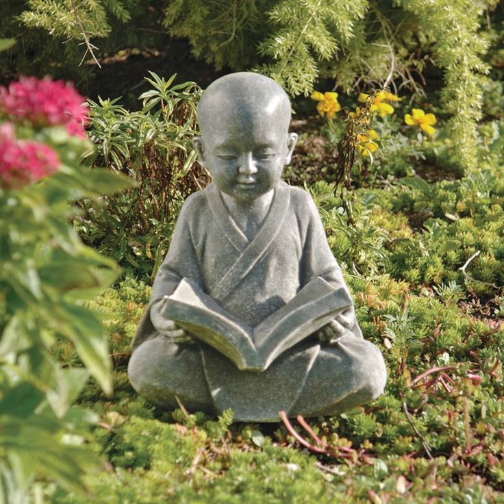 Design Toscano 12 in. Baby Buddha Studying the Five Precepts Statue - QL4195