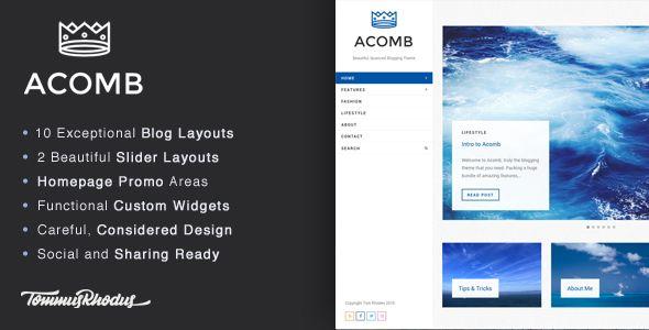 Acomb - Responsive Blogging WordPress Theme (Personal) - http://creativewordpresstheme.com/acomb-responsive-blogging-wordpress-theme-personal/