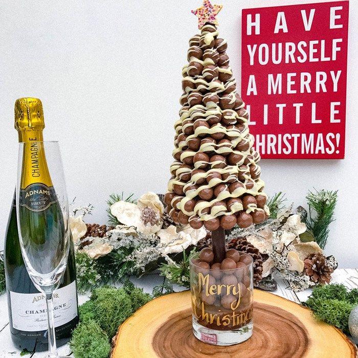 Personalised Malteser Drizzle Christmas Sweet Tree | GettingPersonal.co.uk