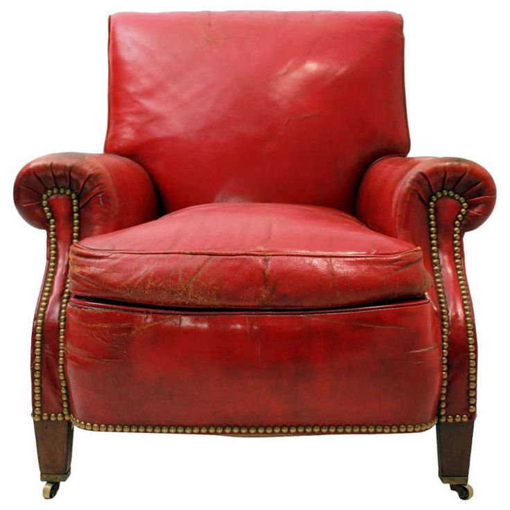 Red Leather Club Chair | From a unique collection of antique and modern club chairs at http://www.1stdibs.com/furniture/seating/club-chairs/